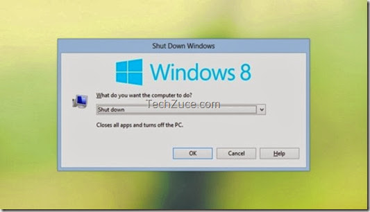 shutdown windows 8 PC from the new Start button